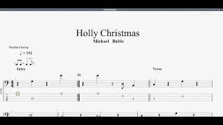 Michael Bublé - Holly Jolly Christmas (bass tab)