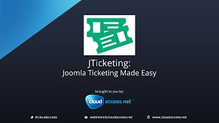 JTicketing: Joomla Ticketing Made Easy