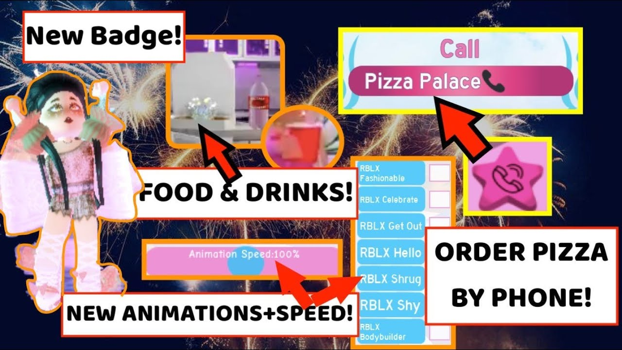 New Years Update Is Almost Here Order Food From Pizza Palace New Badge New Animationshairs