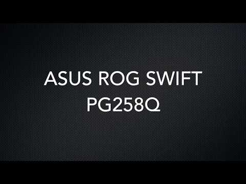 ASUS ROG SWIFT PG258Q - Remove Monitor Stand Tutorial