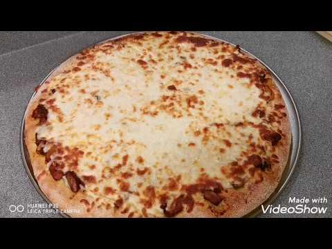 صورة  طريقة عمل البيتزا اسرار بيتزا المحلات هنا وبس 🥰 مع مى خليل طريقة عمل البيتزا بالفراخ من يوتيوب