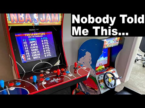 Arcade1up Review NBA JAM & OUTRUN Long Term Review Should You Buy? Home Arcade Man Cave Video Game from Pradigy Musicman - Music - Cars - Tech - Vlogs