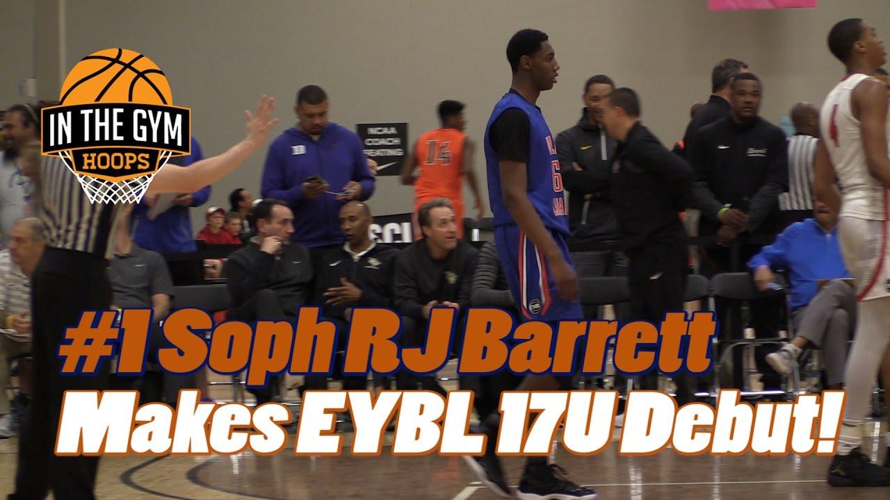 #1 Sophomore RJ Barrett Makes Nike EYBL 17U Debut! Can he be STOPPED?