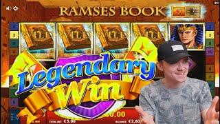 🔥🔥🔥 MEGA WIN ON RAMSES BOOK SLOT (Gamomat) ★SixSlots★