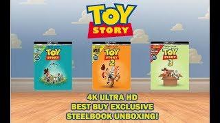 TOY STORY 1, 2, 3 - BEST BUY EXCLUSIVE 4K ULTRA HD STEELBOOK UNBOXING!