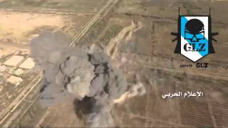 Сирия Поражение танка  ИГ  с беспилотника