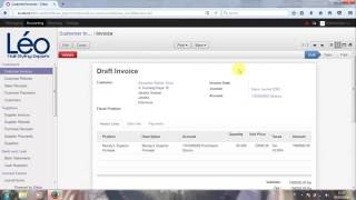 Tutorial [Odoo 8] Customer Invoice & Supplier Invoice Accounting Module