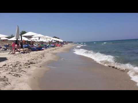 Greece / Kos / Tigaki  beach to beach end  in time lapse