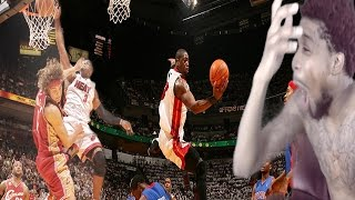 The no look god!! dwyane wade top 10 dunks & plays reaction