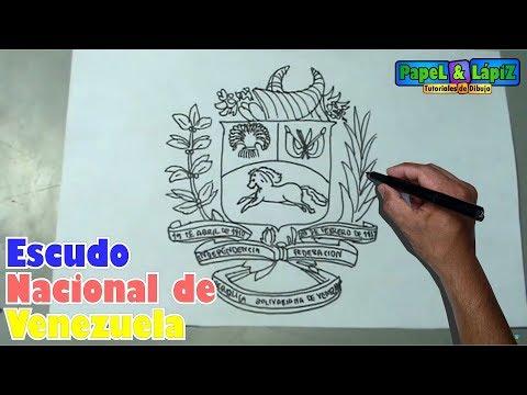 Aprende A Dibujar Facil El Escudo Nacional De Venezuela Youtube