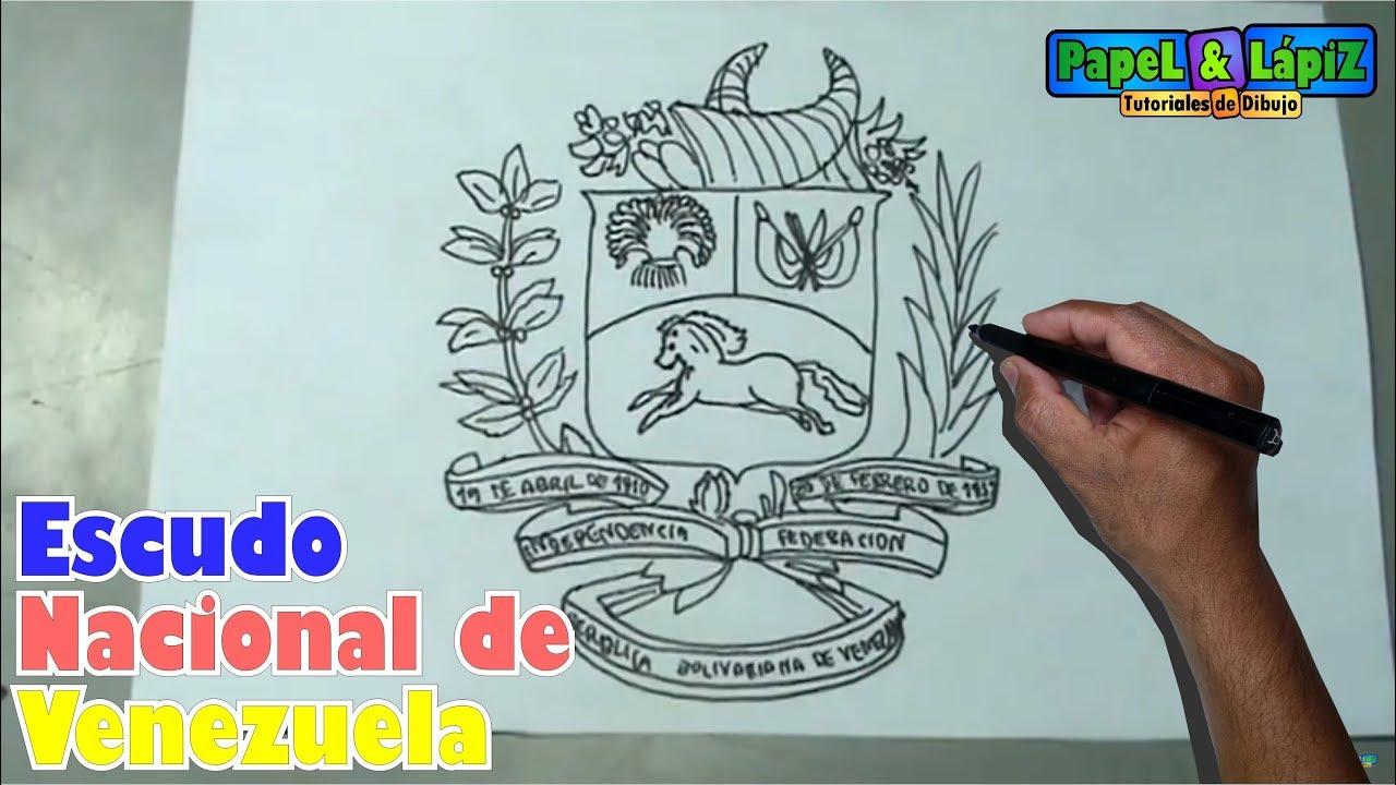 Aprende A Dibujar Fácil El Escudo Nacional De Venezuela