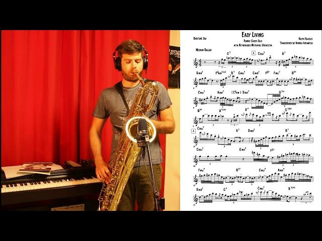 Andrea Iurianello - Easy Living, Ronnie Cuber solo transcription.
