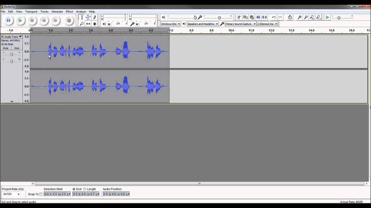 Make Fred or Chipmunk to Slowmo Voice in Audacity in 5 Seconds