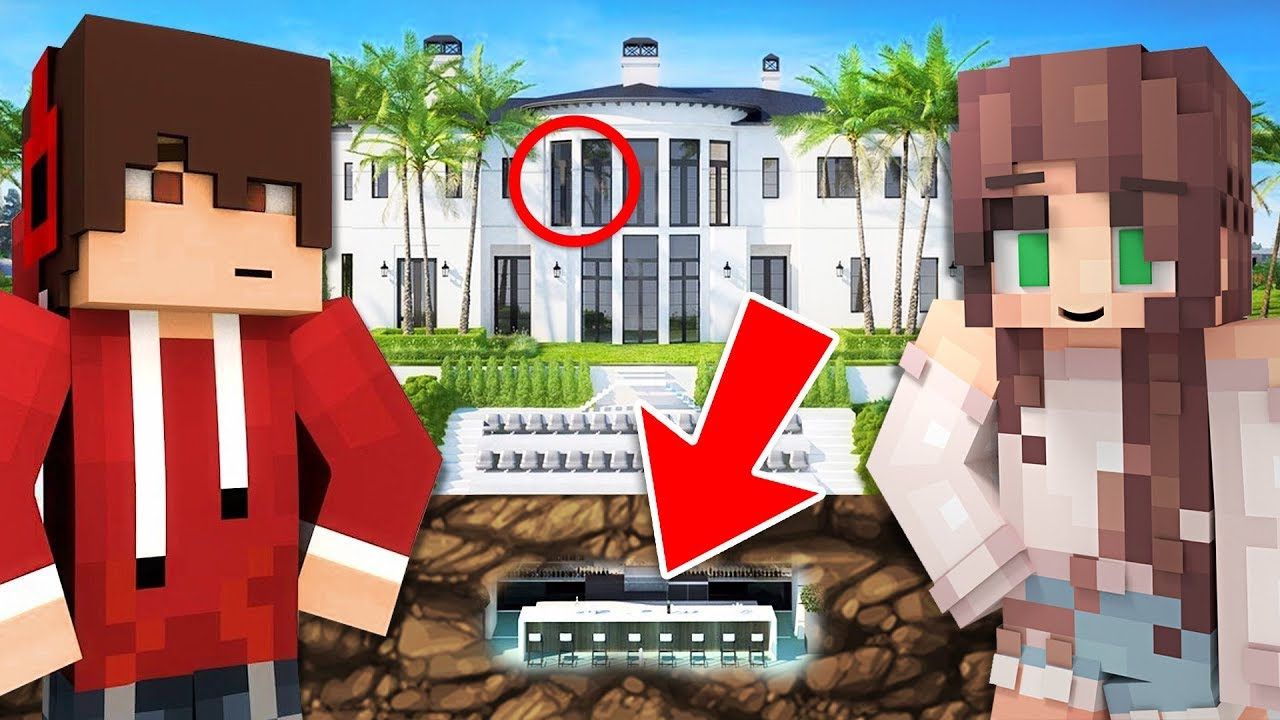 BUILDING OUR *SECRET* HOUSE!! (Playing Minecraft with My Girlfriend