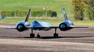 lockheed sr71 blackbird yf 12 gigantic rc scale model jet flight display rc airshow hausen 2015