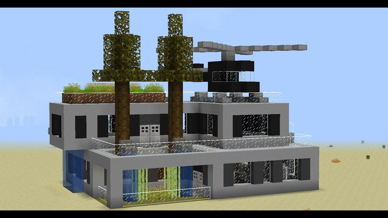 Minecraft Construction Villa De Luxe : Minecraft construction d une maison moderne épisode