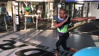 MARCUS BRIMAGE STRETCHING LIKE DRAGON BALL