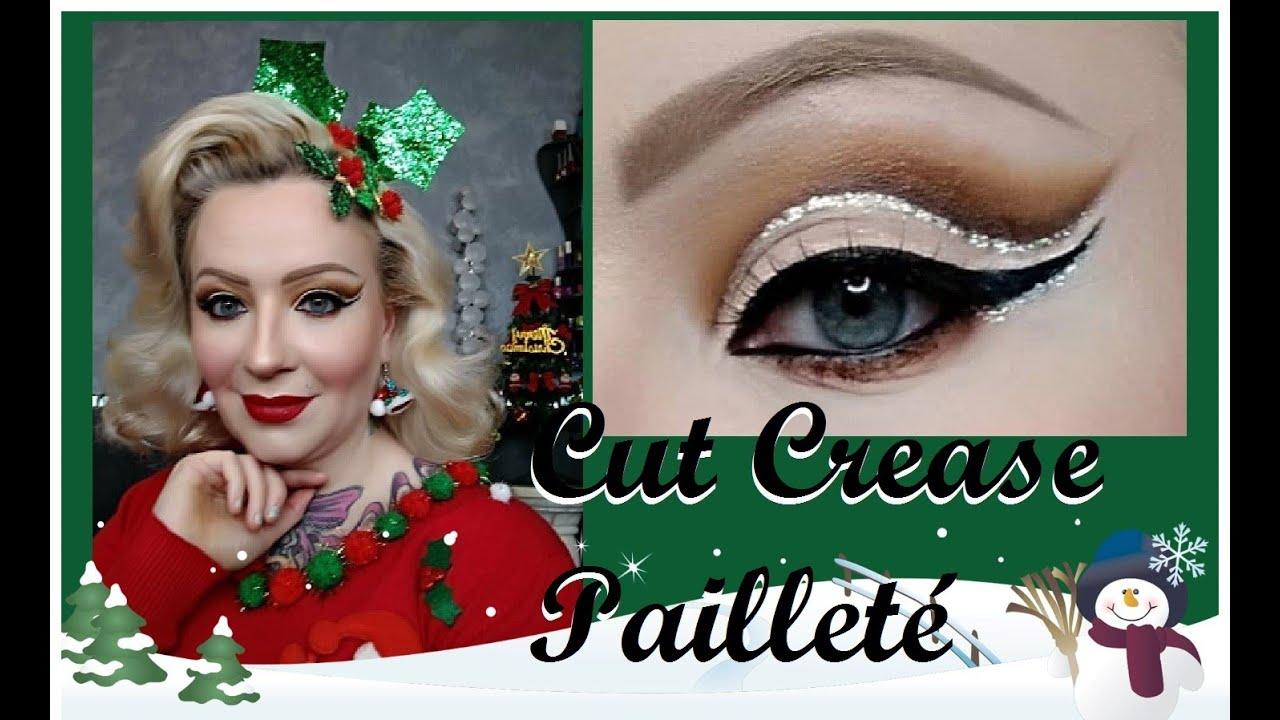 Cut Crease Pailleté Pour Noël Tuto Maquillage De Fetes Cherry Babydoll