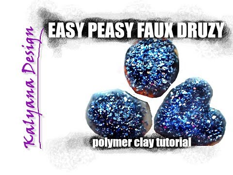 Easy Peasy Faux Druzy - polymer clay tutorial 307