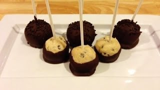Chocolate Chip Cookie Dough Pops - Quick and Easy Tutorial!