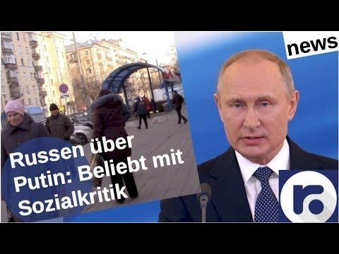 Russen über Putin: Beliebt,  aber Sozialkritik