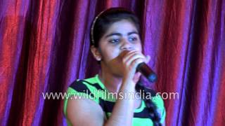 Indian girl sings
