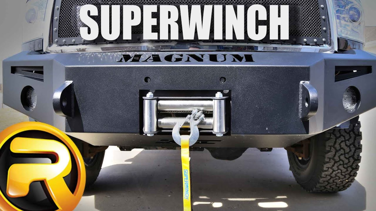 how to install the superwinch tiger shark winch [ 1280 x 720 Pixel ]