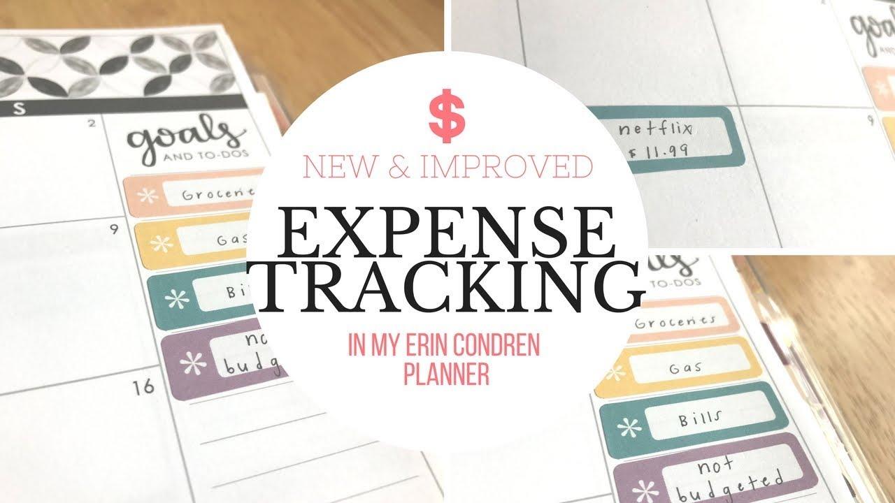 expense tracking new improved how i track expenses youtube