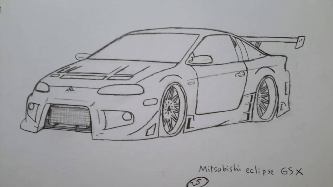 My jdm drawing cars - YouTube