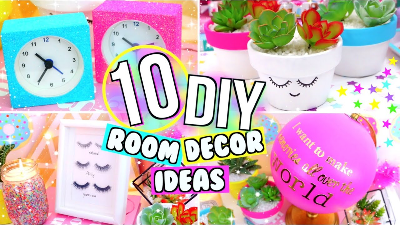 Diy Room Decor 10 Diy Room Decorating Ideas For Teenagers: 10 DIY ROOM DECOR IDEAS! FUN DIY ROOM DECOR IDEAS YOU NEED