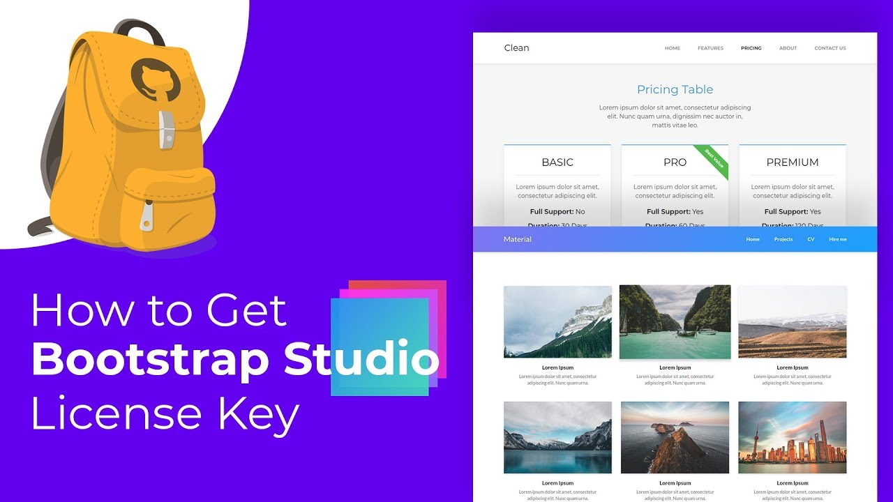How to Get Bootstrap Studio 4 License Key for Free - Github Student  Developer Pack
