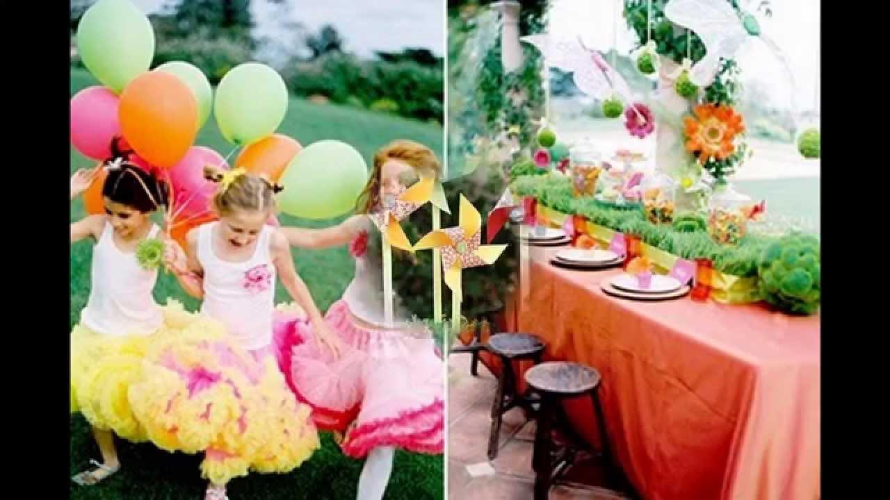 Easy Garden Birthday Party Decorations Youtube
