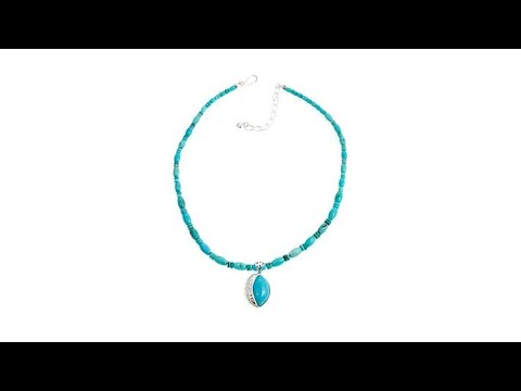 "Jay King Angel Peak Turquoise Pendant with 18"" Necklace"