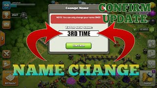 3RD TIME NAME CHANGE CONFIRM UPDATE IN CLASH OF CLANS | HOW TO CHANGE NAME THIRD TIME IN COC