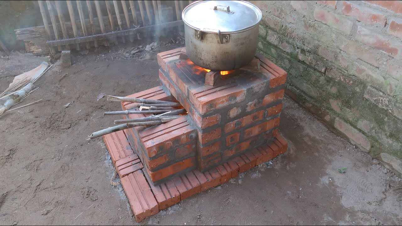 Build wood stove outdoor new style \ Beautiful wood stove - Save firewood