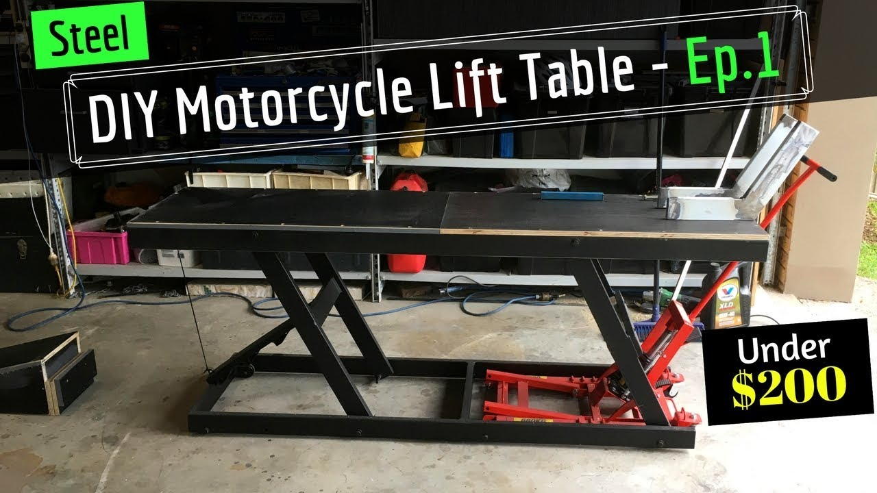 Diy Motorcycle Hydraulic Lift Table From Old Shelving Ep 1 Youtube