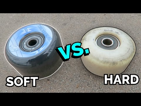SOFT SKATEBOARD WHEELS vs HARD SKATEBOARD WHEELS.