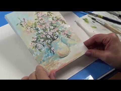 Рисуем натюрморт    Миниатюра    Ветки яблони
