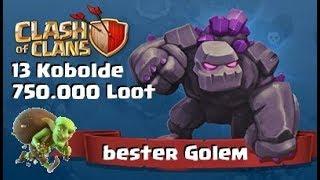 [360] 13 Kobolde 750.000 Loot | Bester Golem | Clash of Clans Deutsch COC