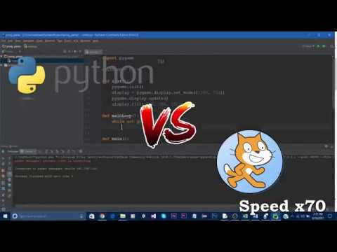 Python VS Scratch Speed Coding [Pong Game]