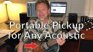 Portable ACOUSTIC GUITAR PICKUP - fits any guitar - no damage - Guitar Discoveries #14