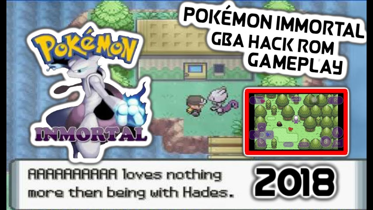 Pokemon Immortal GBA HACK ROM Gameplay 2018 - YouTube