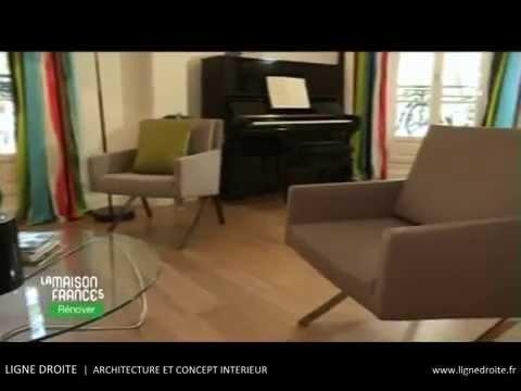 r nover ligne droite sur la maison france 5 youtube. Black Bedroom Furniture Sets. Home Design Ideas