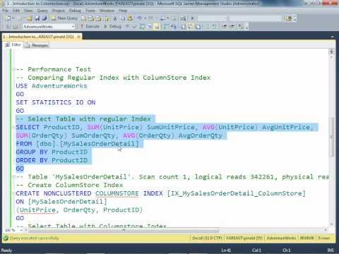 SQL SERVER - Video - Performance Improvement in Columnstore Index hqdefault
