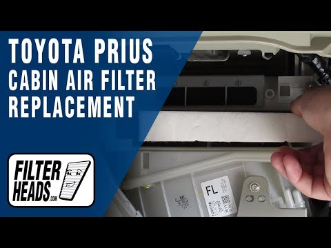 How To Replace Cabin Air Filter 2011 Toyota Prius