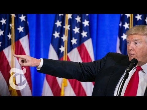Donald Trump Speaks to Media on January 11, 2017 (Full) | The New York Times