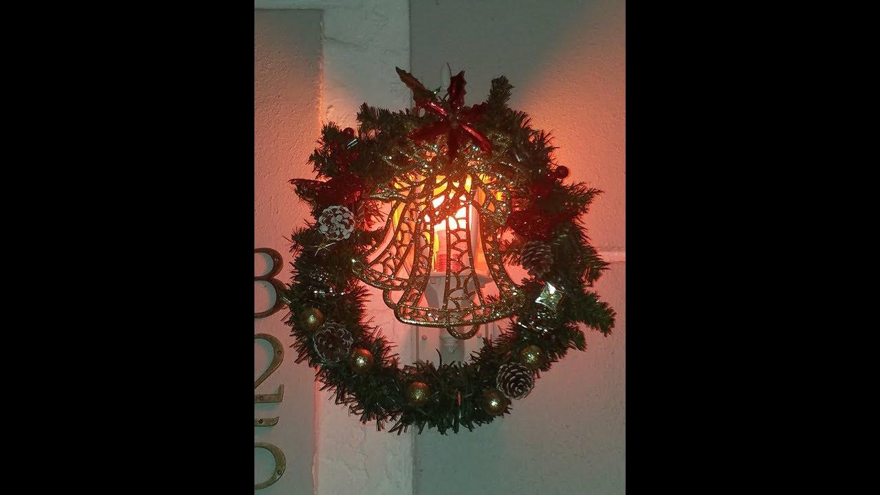 Homemade porch light covers for Christmas