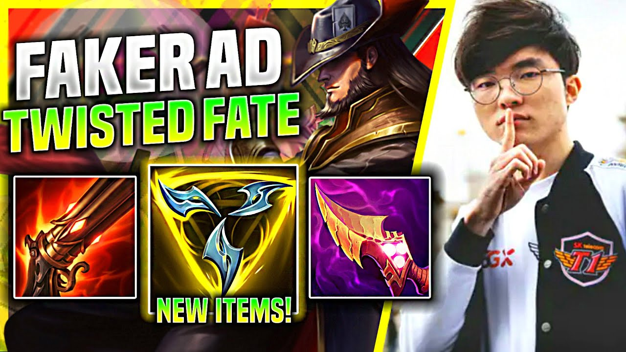 FAKER TRIES AD TWISTED FATE WITH NEW TRINITY FORCE! - T1 Faker Plays Twisted Fate Mid vs Akali!