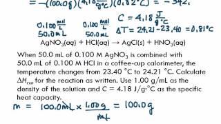 6.7 Constant-Pressure Calorimetry: Measuring ∆Hrxn