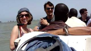 Learning Hindi and French on a boat in Senegal